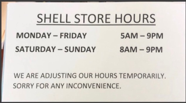 Shell hours